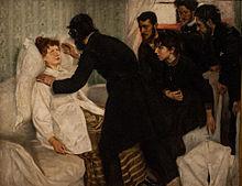 Hypnotische seance, door Richard Bergh, 1887