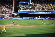 Een 2008 Indiase Premier League Twenty20 cricketwedstrijd die wordt gespeeld tussen de Chennai Super Kings en Kolkata Knight Riders.