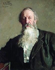 Portret Vladimira Stasova autorstwa Ilyi Repina.