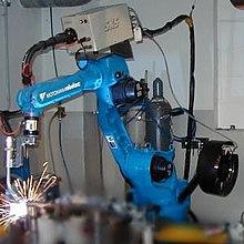 Industriële robot, gebruikt voor lassen