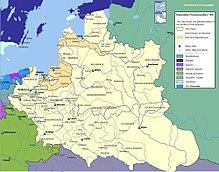 Польско-литовский союз, когда он был самым большим в 1618-1655 гг.