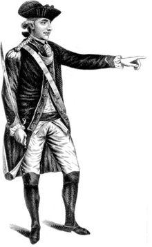 Major John André, šéf špionáže britského generála Henryho Clintona, byl za svou roli ve spiknutí zajat a oběšen.