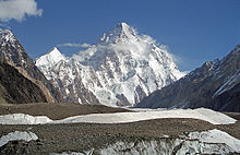 Der K2 ist mit 8.611 m (28.251 ft) der zweithöchste Gipfel der Welt