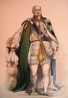 Принц Август Фредерик, герцог Сассекский в мантиях рыцаря ордена Чертополоха.