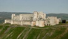 Baibars veroverde de Krak des Chevaliers in Syrië op de Hospitaalridders in 1271.