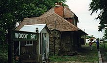 Pohled na nástupiště v roce 1996, návěstidlo se obnovuje