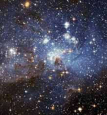 Een stervormingsgebied in de Grote Magelhaense Wolk, misschien wel het dichtst bij de melkweg van de aarde
