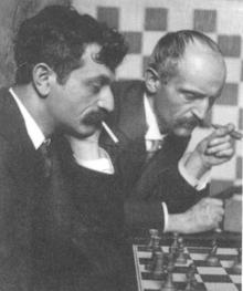 Emanuel Lasker en zijn broer Berthold Lasker in 1907