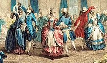 Franse aristocraten, ca. 1774