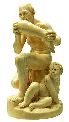Leonhard Kern: Menseneter, ebbenhouten sculptuur, rond 1650