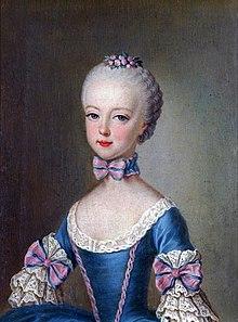 """Een foto van Marie """"Antoine"""" Antoinette toen ze zeven jaar oud was door Martin van Meytens."""