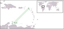 Местоположение Нидерландских Антильских островов