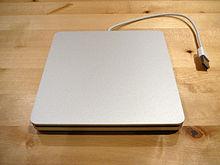 De optionele MacBook Air SuperDrive.