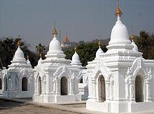 Kuthodaw Pagoda. Hier ligt het grootste boek ter wereld.