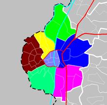 Distrikter ifølge CBS