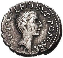 Lepidus op een munt