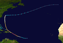 Pad van de orkaan Maria