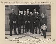 Medlemmar i den kungliga kommissionen för kusterosion och beskogning 1906-1911 av Sir (John) Benjamin Stone