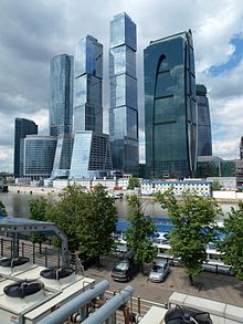 Moskiewskie Międzynarodowe Centrum Biznesu w budowie