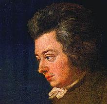Onafgewerkt portret van Mozart, 1782