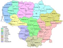Die Bezirke und Gemeinden in Litauen