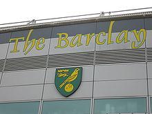 Norwich City F.C. badge op de Barclay (april 2007)
