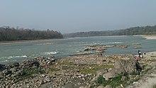 Narayani rivier in Chitwan