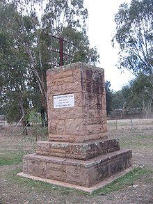 Charles Sturt gedenkteken op de Murrumbidgee Rivier