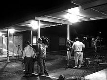 Nieuwsploegen over de verdwijning van Holloway, 10 juni 2005.