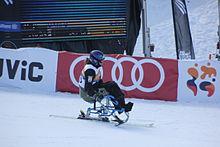 Hiszpańska narciarka Nathalie Carpanendo na mono-ski