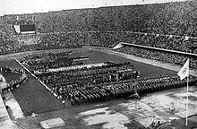 Teams bij de openingsceremonie van de 1952 qames