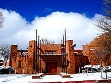 Navajo Nation Council Chamber, de regeringszetel van de Navajo Nation, Window Rock, Arizona.