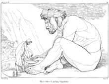 オデュッセウスはポリュペモスにワインを与える