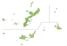 Kaart van de prefectuur Okinawa