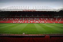 Old Trafford gezien vanaf de Zuid-tribune