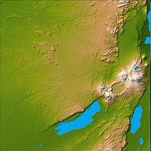 Topografie van Olduvai Gorge