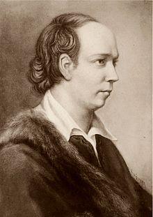 Een portret van schrijver Oliver Goldsmith