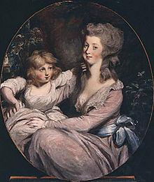 Peggy Shippen Arnoldová a dcera, autor Sir Thomas Lawrence
