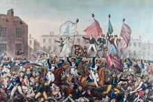 Bij het bloedbad van Peterloo in 1819 vielen vijftien tot twintig doden en enkele honderden gewonden.