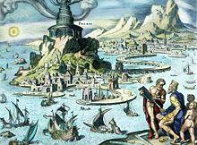 Heemskerk's denkbeeldige foto van de vuurtoren van Alexandrië