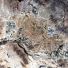 Satellitenbild der Phoenix Metro Area im Jahr 2002.