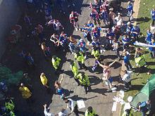 Politie split Zenit en Rangers fans