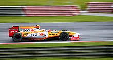 Piquet tijdens de Grand Prix van Maleisië 2009