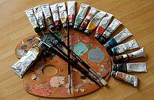 Materialien zum Malen
