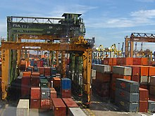 Keppel Container Terminal in Singapore