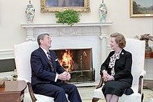 Thatcher met president Ronald Reagan in 1985...