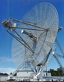 Eine große Radarantenne
