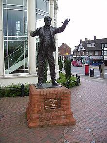 Standbeeld van Ralph Vaughan Williams in Dorking, Engeland