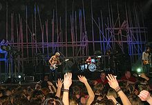 Een Red Hot Chili Peppers concert in Stockholm in 2003