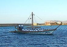 Cópia de um navio da Minoan